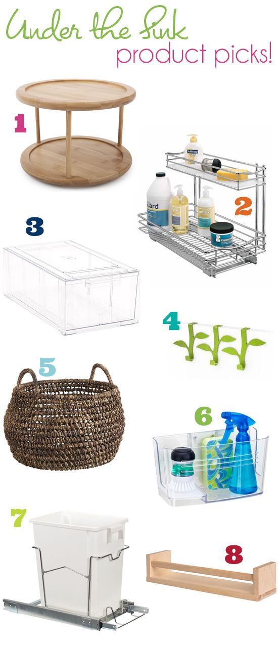 Organize This   Under The Sink.featuring Core Bamboou0026 Two Tier Lazy Susan