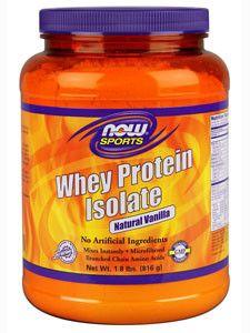 NOW- Whey Protein Isolate (Vanilla) 1.8 lbs