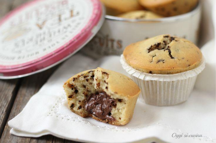 Muffin con gocce di cioccolato e cuore morbido