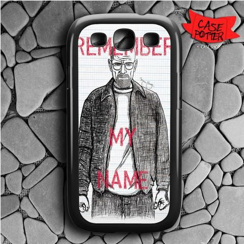 Heisenberg Breaking Bad Remember Samsung Galaxy S3 Black Case