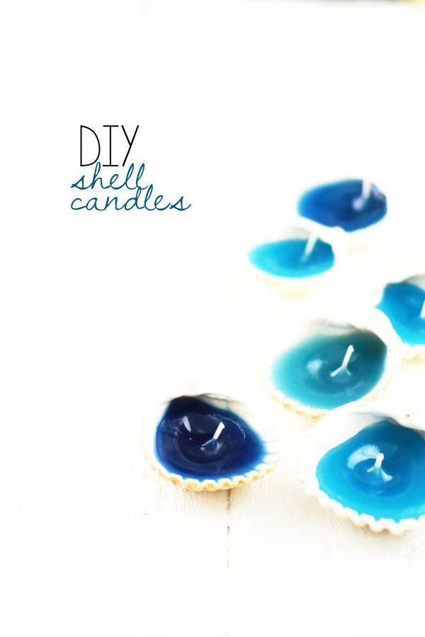 DIY Muschel-Kerzen | shell candles | Upcycling Project by http://titatoni.blogspot.de/