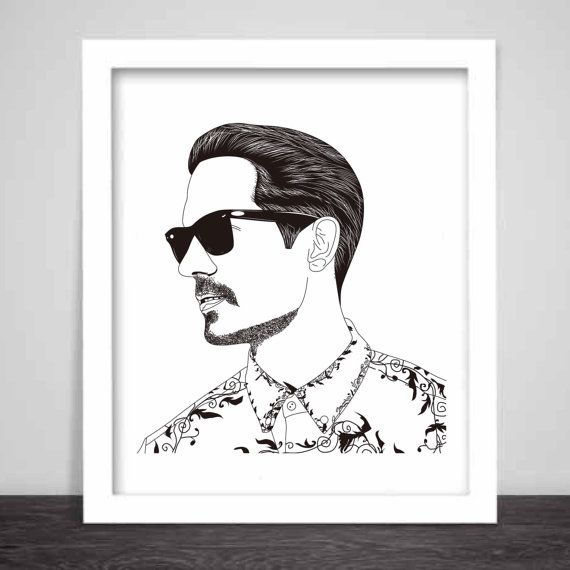 G-Eazy Art Poster 3 sizes // Geazy Young Gerald I by BabesnGents