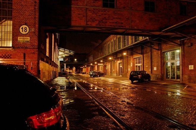 """""""The Leipzig Cotton Mill at night"""""""