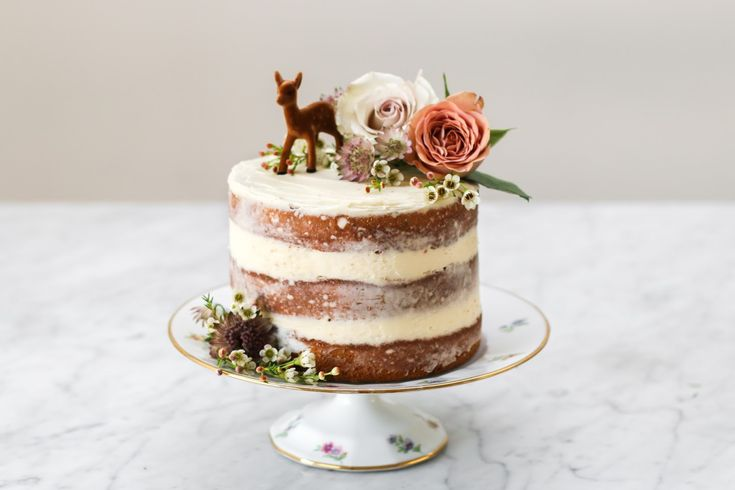 Constellation Inspiration: Jasmine Cake with Honey Swiss Meringue Buttercream...