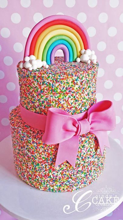 Rainbow sprinkles cake - To view our full Colour Splash range, please visit http://www.craftcompany.co.uk/colour-splash.html