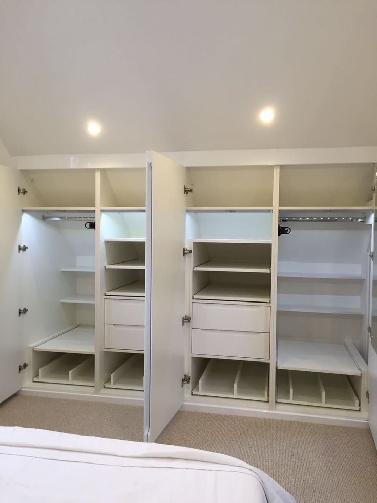 Gloss White Wardrobe With Shoe Trays, Drawers, Hanging Rail, Pull Out Tie