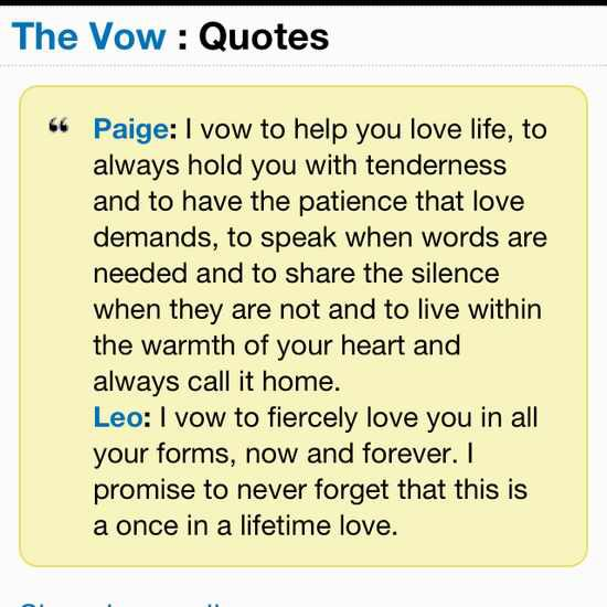 Best The Vow Quotes Images On Pinterest The Vow Movie Quotes