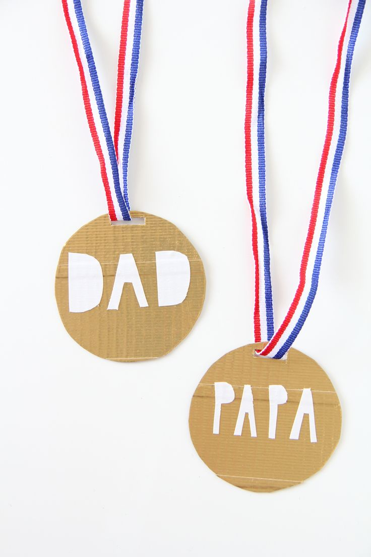 father's day craft medals