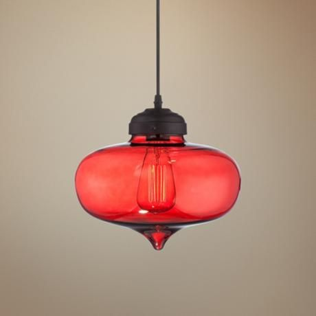 lampsplus.com  tons of cool lamps, fans, etc. this one is Possini Euro Darby 10 1/2 Wide Red Glass Pendant Light