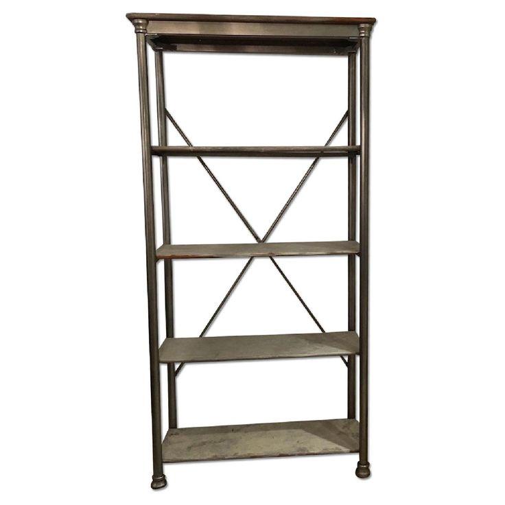 Cross-Back Chalk-Painted Bookshelves
