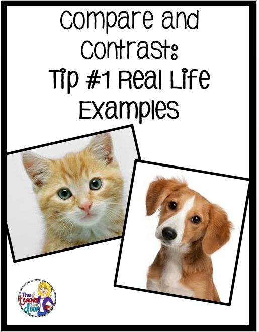 Easy to understand examples to teach compare and contrast. Compare a cat and a dog...a basketball and a football...a crayon and a marker...This and lots of other strategies to teach this fun concept on Upper Elementary Snapshots.