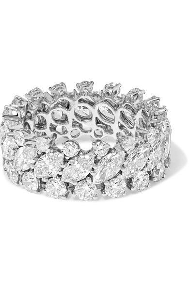 Shop Women's style  women fashion ANITA KO 18-karat white gold diamond ring