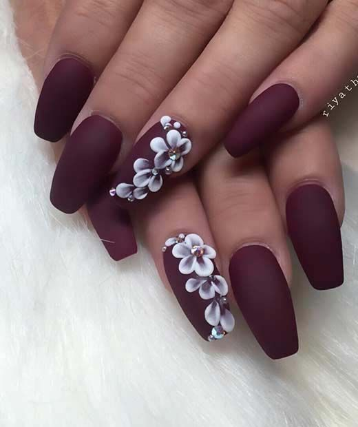 cool matte nail design nails