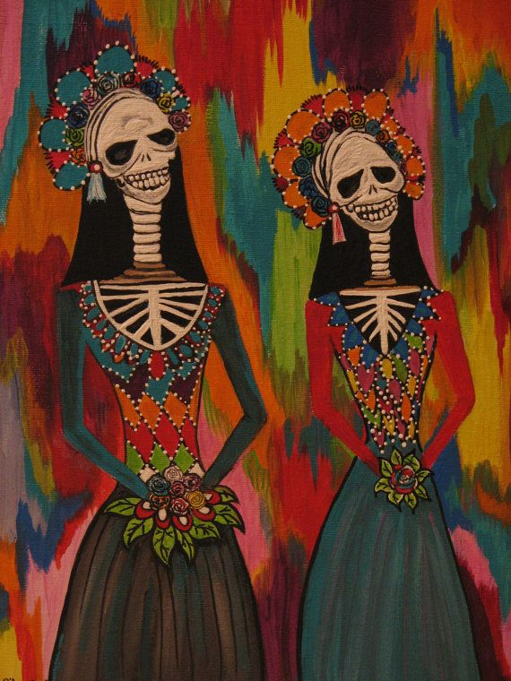 Day Of The Dead Wall Art 176 best day of the dead art images on pinterest | sugar skulls
