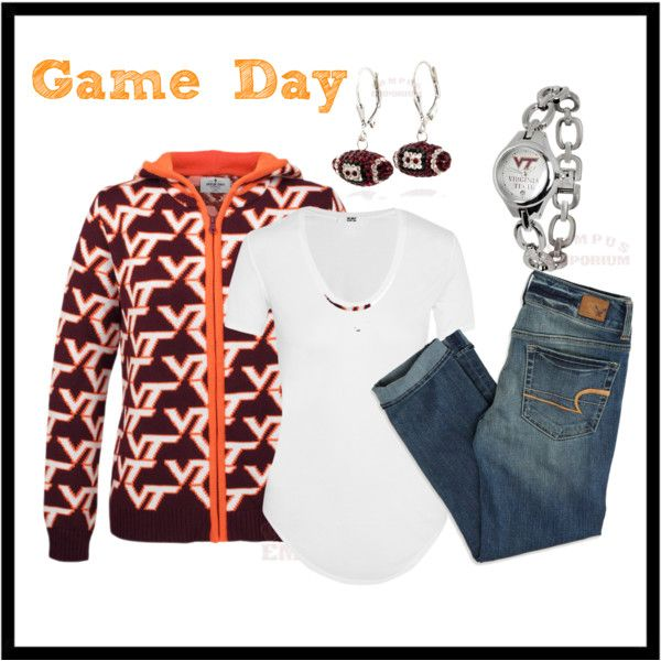 """VT Game Day"" by campusemporium on Polyvore"