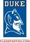 """Duke Blue Devils Applique Banner Flag 44"""" x 28"""""""