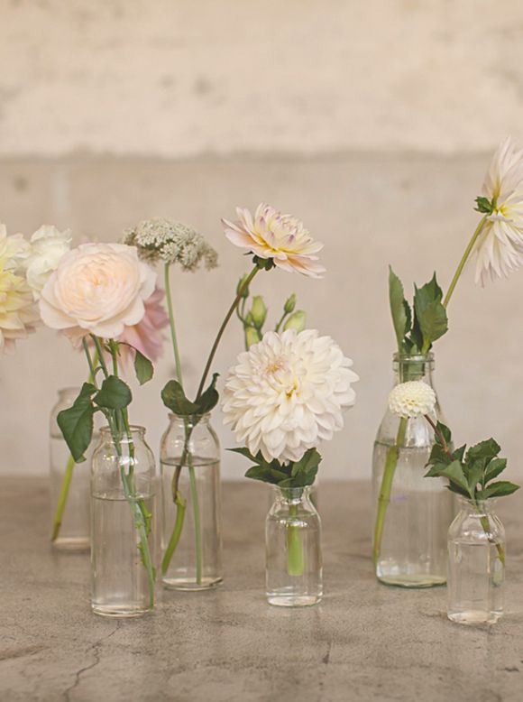 magnolia rouge | wedding decor | wedding details | bud vases | centerpieces | photo: danelle bohane