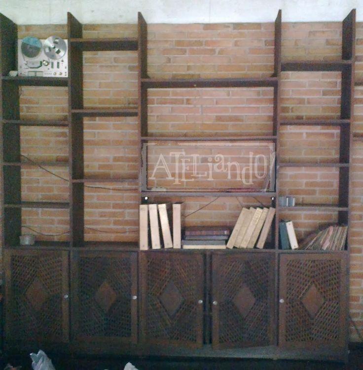 Ateliando - Customização de móveis antigos: Estante Livreiro Antiga Carmen
