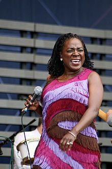 Sharon Lafaye Jones (born May 4, 1956) is an American soul/funk singer. She is the lead singer of Sharon Jones & The Dap-Kings, a band at the forefront of a revivalist movement that aims to recapture the feeling of soul and funk music as it was at its height in the late 1960s to mid-1970s. Despite trying to forge a career as a professional singer since an early age, it has only been in her middle age that Jones has experienced breakthrough success.