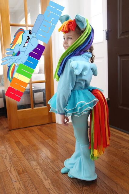 DIY Rainbow Dash Costume
