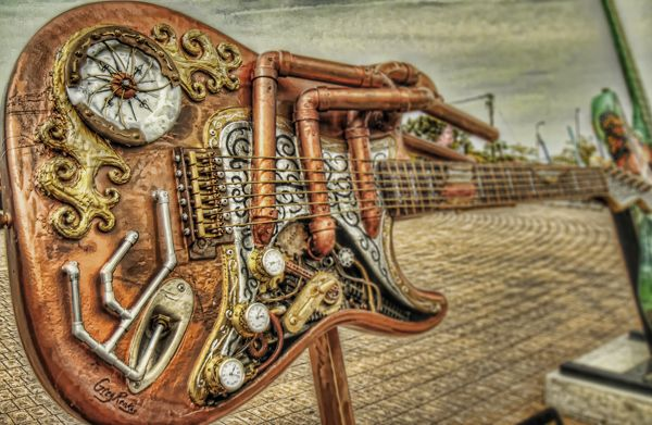 500px / Photo SteamPunk Guitar by Brian Kunst