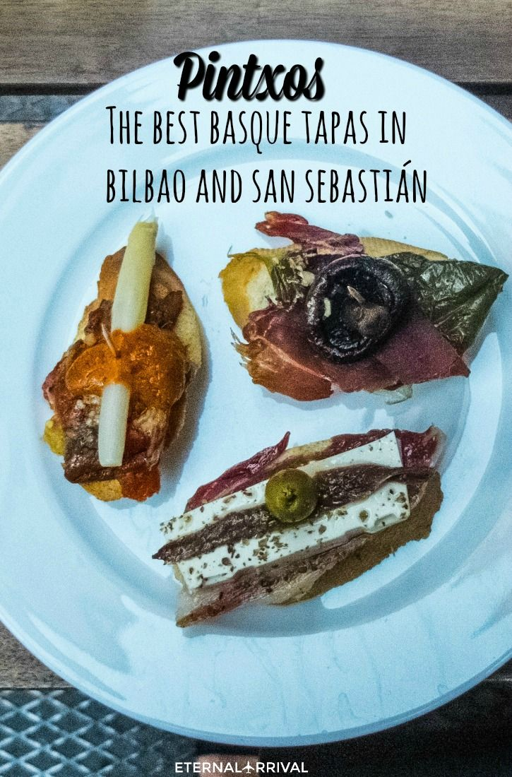 Basque Country is home to the pintxo, a spin on the Spanish tapa. Usually, this involves fresh local ingredients arranged on bread, but the only limit to pintxos are the chef's imagination and the idea that you should be able to eat one with a drink in yo. To learn more about #Bilbao | #Rioja, click here: http://www.greatwinecapitals.com/capitals/bilbao-rioja