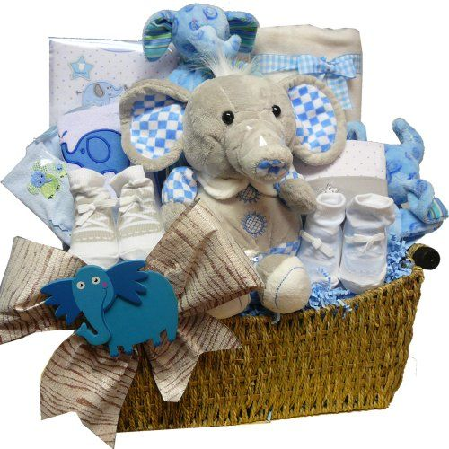 Eli The Elephant Baby Gift Basket – Blue Boys « Game Searches