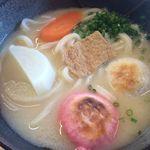 本場かなくま餅 福田 - 料理写真:白味噌アン雑煮うどん小560円