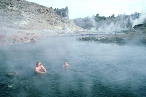 hot creek, CA | in hot pools like these at Hot Creek, Mammoth Lakes, California ...