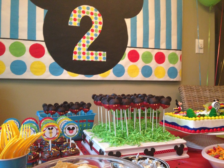 Mickey Mouse Birthday Party for a two year old Fun