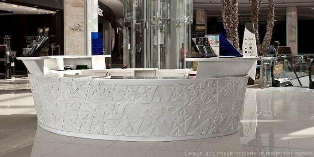 Касабланка, Марокко: фойе и большая часть роскошных торговых центров с многочисленными установками были сделаны из DuPont