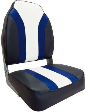 """Кресло Highback Rainbow Boat Seat (75107CBW)  Комфортабельное лодочное кресло из алюминиевого каркаса с виниловыми вставками-""""подушками"""" на спинке и сиденье. Материалы приспособлены для использования в соленой морской воде.Кресло крепится при помощи 4-х сарорезов к горизонтальной ровной поверхности. В дополнение к креслу Вы можете приобрести аксессуары:• поворотная платформа для кресла - 115026;• стойки под кресло моделей 8WD1250, 8WD1251 или 8WD1255;• быстроразъёмный переходник - 387010…"""