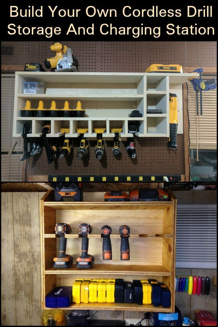 This Cordless Drill Storage And Charging Station Is An