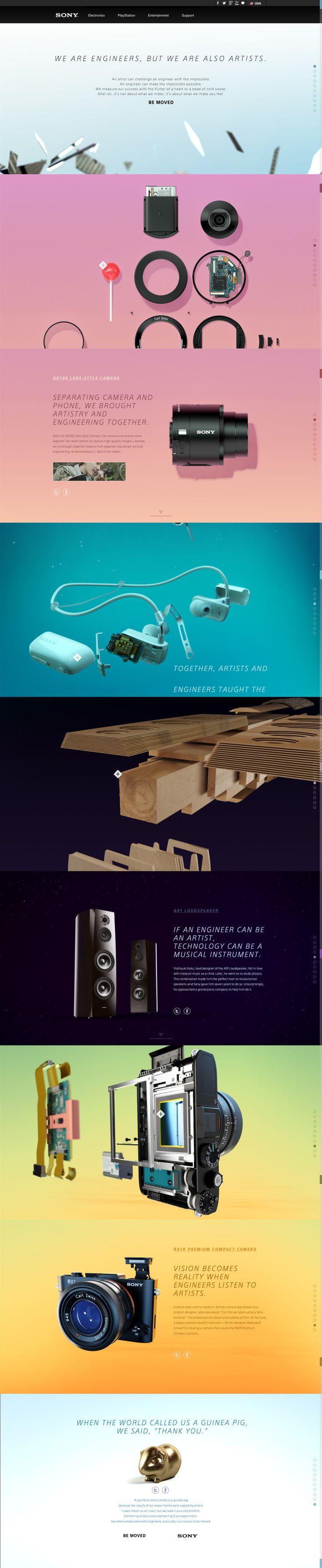 Unique Web Design, Sony #WebDesign #Design