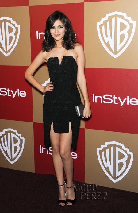 Victoria Justice at 2013 InStyle Golden Globes after party