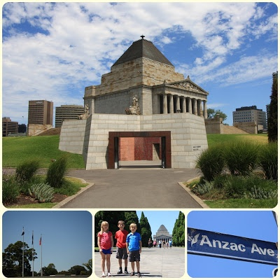Shrine of Remembrance in Melbourne Australia.  Learn about the medals, the ceremony