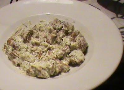 Ciulama de ciuperci raw vegan