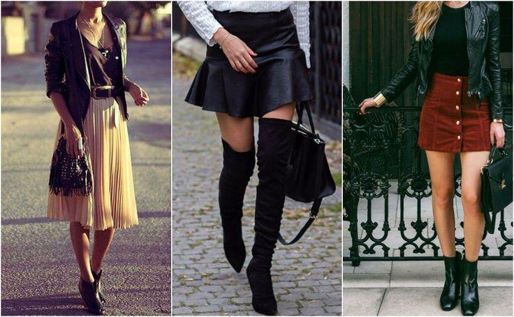 formas de usar botas faldas