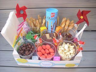 Aus Mandarinenkiste wird Mini Candy Bar ! Am Wochenende war das große Tochterkind bei einer Freundin zum Geburtstag eingeladen. Mit Übern