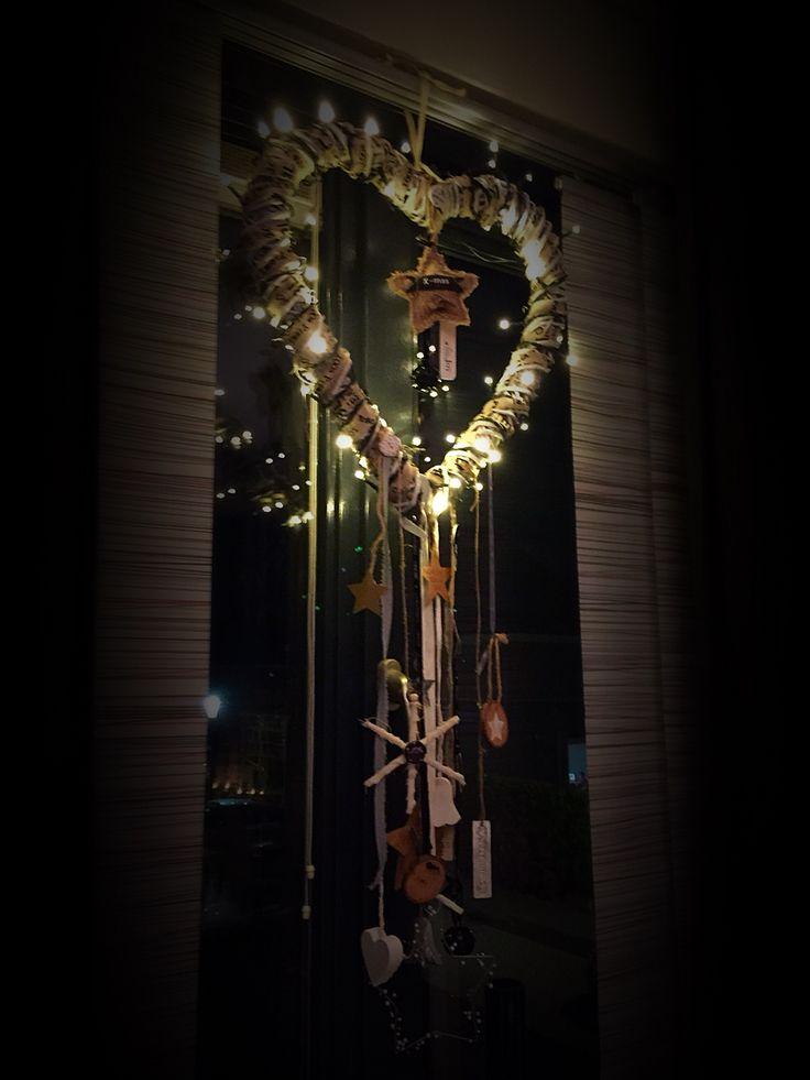 #raamdecoratie #Selfmade #kerst
