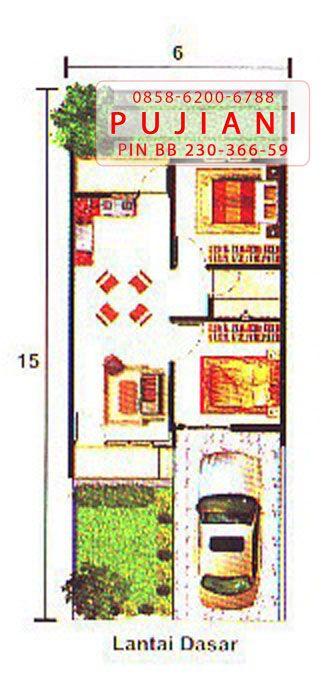 Gambar denah rumah GrandGalaxy Bekasi tipe Canna