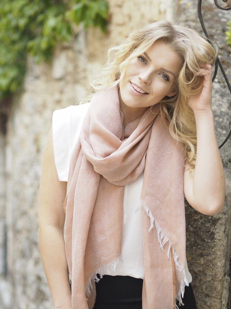 Loren scarf, 80x200cm, brick