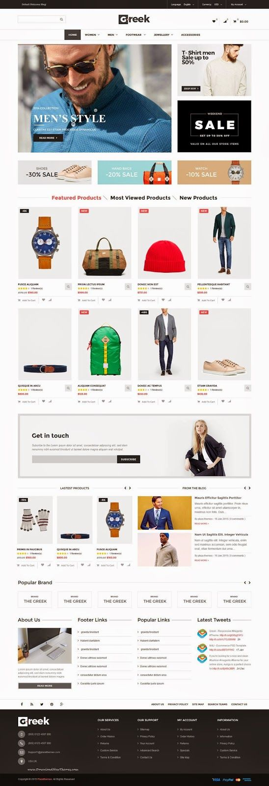 Greek Simple and Clean Responsive Magento Theme 2015 #fashion #clothes #store