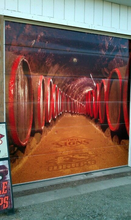 15 best interesting garage doors images on pinterest for Garage wine cellar