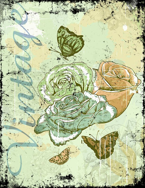 Vintage Roses (Version 06) 2014 Collection - © stampfactor.com