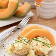 Creamed Eggs on Toast Points