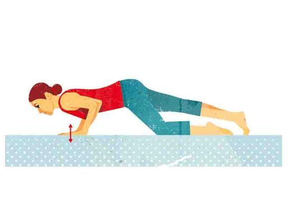 Übungen zum Lockern: Übung 2  Warum? Das Training kräftigt Schulterregion und Brustwirbelsäule und verleiht dem großen Brustmuskel mehr Power.