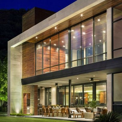 Casa SAC I   modern   exterior   other metro   Pozas Arquitectos patio with  fans under  large wall windows up top for office facing back yard wood  accents  244 best ARQUITETURA images on Pinterest   Architecture  . Modern Contemporary Homes Designs. Home Design Ideas