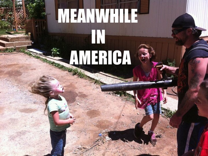 Meanwhile, in America | 50 Funniest Meanwhile, in America Picts  What the hell is going on