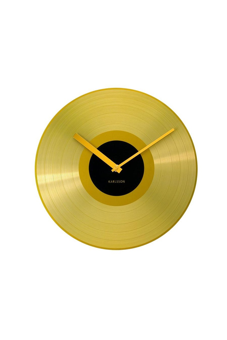 Karlsson by Present Time Wall Clock Golden Record